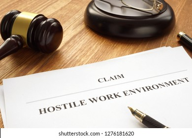 Claim about hostile work environment in a court.