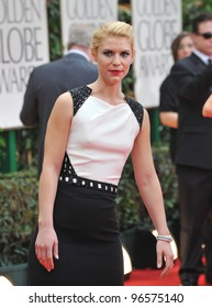 Claire Danes at the 69th Golden Globe Awards at the Beverly Hilton Hotel. January 15, 2012  Beverly Hills, CA Picture: Paul Smith / Featureflash