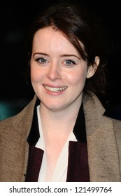 """Claire Foy arriving for the """"Life of Pi"""" premiere at the Empire, Leicester Square, London. 03/12/2012 Picture by: Steve Vas"""