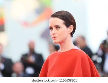 Claire Foy walks the red carpet ahead of the opening ceremony during the 75th Venice Film Festival at Sala Grande on August 29, 2018 in Venice, Italy