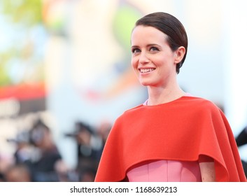 Claire Foy walks the red carpet ahead of the opening ceremony during the 75th Venice Film Festival at Sala Grande on August 29, 2018 in Venice, Italy.