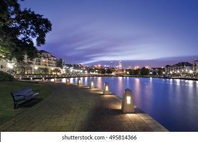 Claisebrook Cove in east Perth, Western Australia