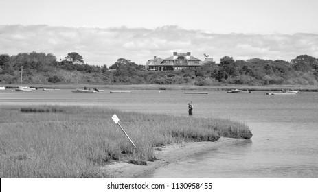 Clamming in Chatham Harbor - Chatham, MA.