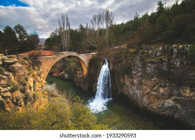 Clandras Bridge and Clandras Waterfall. Historical bridge from the Phrygian period in the district of Karahallı in Uşak province. It is a touristic historical bridge.