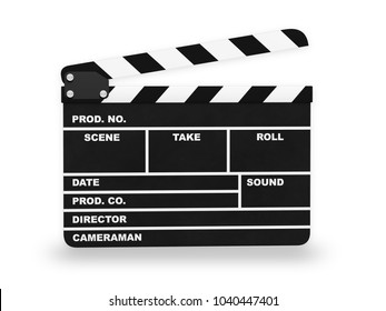 Clap action cinema 3D illustration