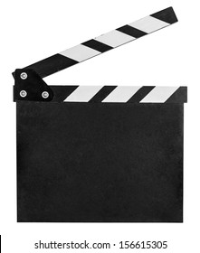 clap board isolated on white with clipping path included