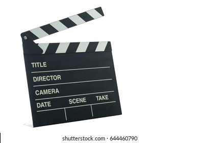 Clapboard isolated on a white background, copy space