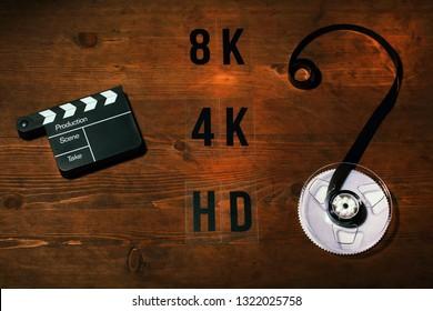 clapper board video film