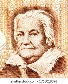 Clara Zetkin, Portrait from East Germany 10 Mark 1971 Banknotes.