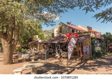 CLARENS, SOUTH AFRICA - MARCH 12, 2018: A street scene with a shopping centre in Clarens in the Free State Province of South Africa