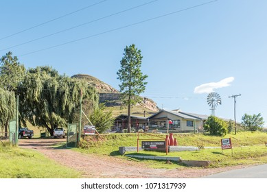 CLARENS, SOUTH AFRICA - MARCH 12, 2018: The Sugar and Cinnamon Restaurant between Clarens and Golden Gate in the Free State Province of South Africa