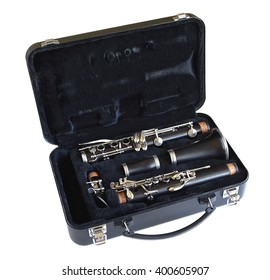 A clarinet in its case.