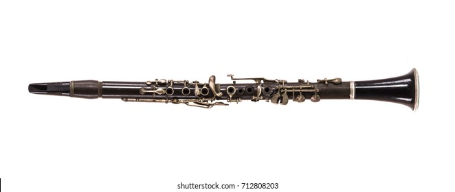 clarinet on white isolated background