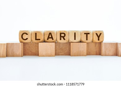 Clarity word on wooden cubes