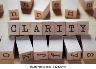 Clarity Word In Wooden Cube