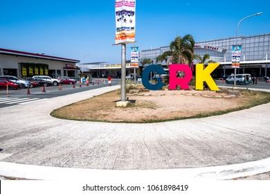 CLARK, PHILIPPINES - Mar 25,2018 Airport Sinage at Clark International Airport, an international gateway to the Philippines within Clark Freeport Zone, located northwest of Manila.