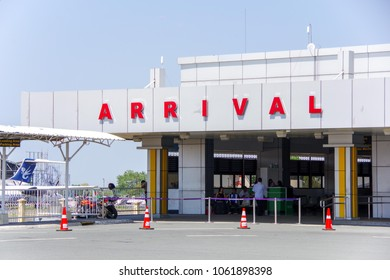 CLARK, PHILIPPINES - Mar 25,2018 Departure Arrival Building at Clark International Airport, an international gateway to the Philippines within Clark Freeport Zone, located northwest of Manila.