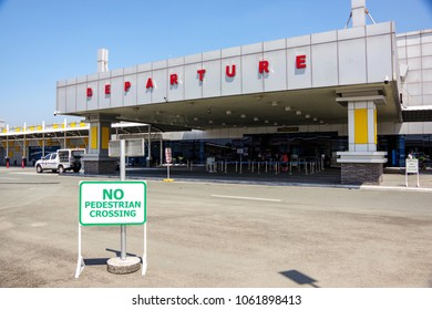 CLARK, PHILIPPINES - Mar 25,2018 Departure Building at Clark International Airport, an international gateway to the Philippines within Clark Freeport Zone, located northwest of Manila.