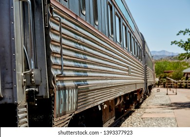 Clarkdale, Arizona, USA - May 4, 2019: Verde Canyon Railroad Train Car at Train Station