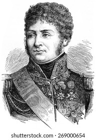 Clarke, vintage engraved illustration. History of France 1885.