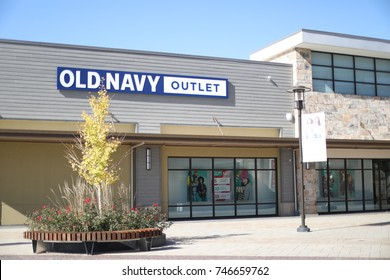 Clarksburg, MD - October 30, 2017: The Old Navy store at the Clarksburg Premium Outlets in Maryland.