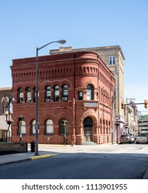 CLARKSBURG, WV - 15 JUNE 2018: Community Bank historic building in Clarksburg, West Virginia