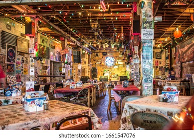 Clarksdale, Mississippi / USA 06-01-2013 An interior view of the Ground Zero Blues Club in Clarksdale, Mississippi