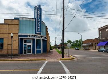 Clarksdale, Mississippi, USA - June 23, 2014: The Greyhound bus station at Clarksdale, Mississippi, USA.