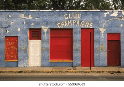 CLARKSDALE, MISSISSIPPI, USA - MARCH 5, 2003: Club Champagne, a juke joint.