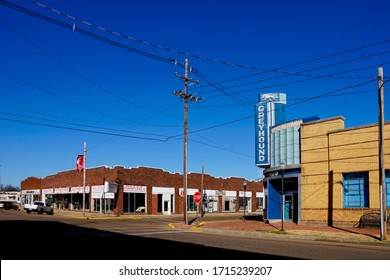 Clarksdale USA - 7 February 2015 : Bus station in downtown Clarksdale in Mississippi USA