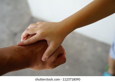 clasp one's hands  Children With men
