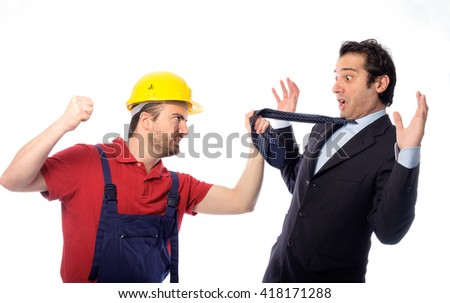 Class struggle between manager and worker