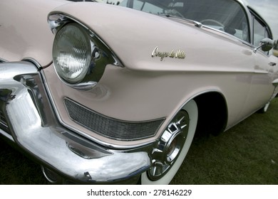 a classic 1950s american car photographed in California, USA.taken 05/10/2012