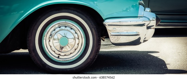 A classic 1950's automobile.