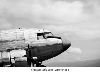 Classic Airliner in Black and White