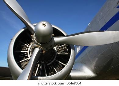 classic airplane engine