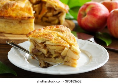Classic American apple pie.