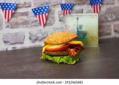 A classic American citizen with bacon