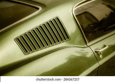 Classic American Muscle car detail