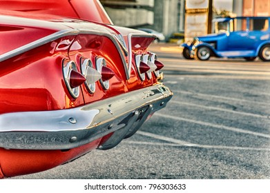 Classic American vintage cars