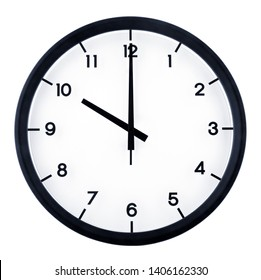 Classic analog clock pointing at 10 o'clock, isolated on white background