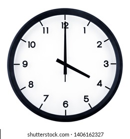 Classic analog clock pointing at 4 o'clock, isolated on white background