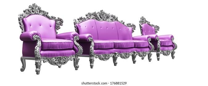 Classic Baroque armchairs & sofa