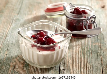Classic Bavarian Cream with Sour Cherries