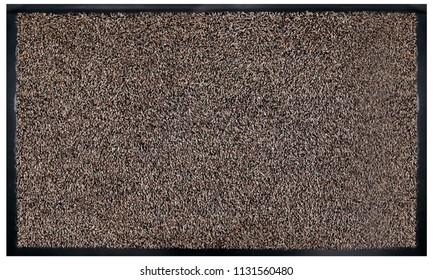 Classic Beige black grey welcome door mat with black border