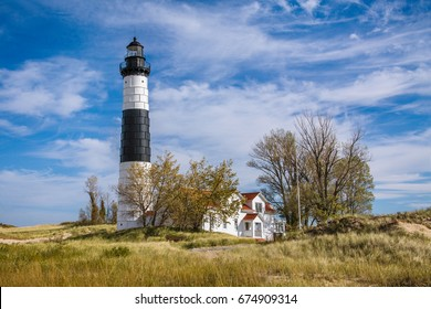 The classic Big Sable Point Lighthouse at Ludington Michigan, USA