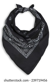classic black bandana on a white background