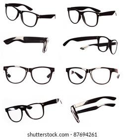 Classic black eyeglasses set