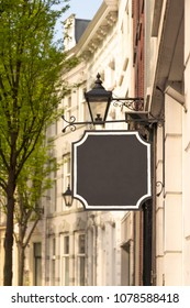classic blank black sign board with copy space
