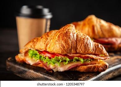 Classic BLT croissant sandwiches
